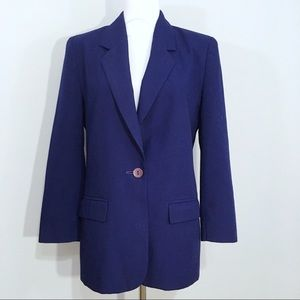 Pendleton Deep Blue One Button Blazer Jacket 8P